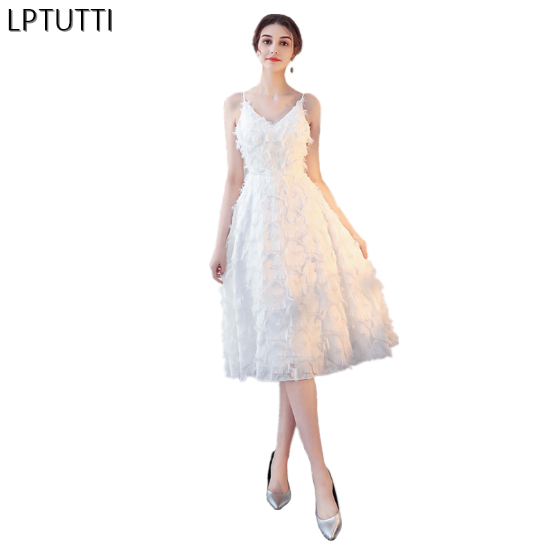 LPTUTTI applique New Sexy Woman Social Festive Elegant Formal Prom Party Gowns Fancy Short Luxury Cocktail Dresses