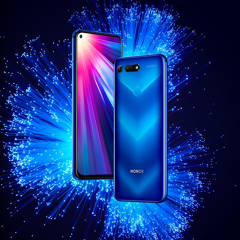 Stock Honor V20 Honor View 20 NFC Mobile Phone 6.4 Inch Screen 4000mAh Battery  Liquid Cooling Kirin 980 Android 9.0 Smartphone