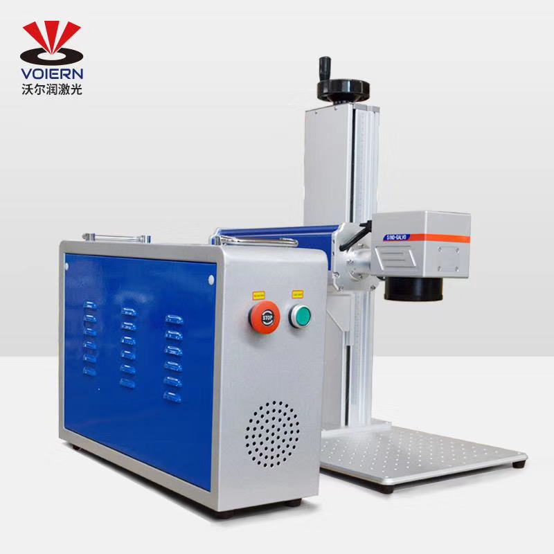 Free Ship To Moscow!!!VOIERN-WR10W 20W 30W 50Wsplit Fiber Laser Marking Machine Metal Marking Machine Laser Engraving Machine