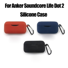 Silikon kapak koruyucu kılıf için tam kabuk Anker -Soundcore yaşam Dot 2 anker kulaklık kutusu