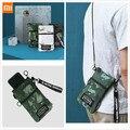 2020 Xiaomi сумка для карт  мужская сумка-Органайзер  рюкзак  износостойкая ткань  текстура  твердая молния  разумная емкость  бумага для ключей ...
