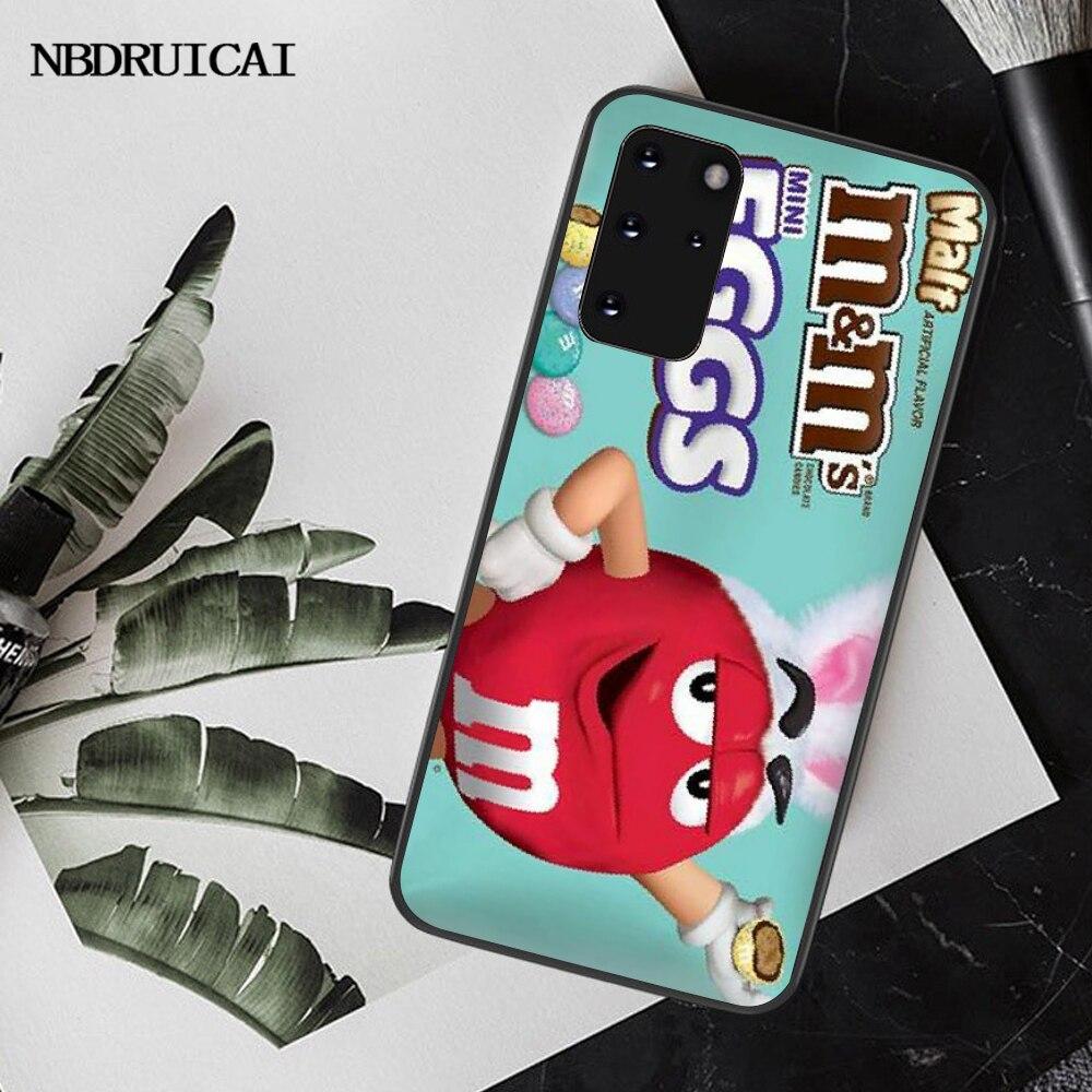 NBDRUICAI M & Ms Chocolate TPU Mềm Dẻo Silicone Ốp Lưng Điện Thoại Dành Cho Samsung S20 Plus Cực S6 S7 Edge S8 s9 Plus S10 5G