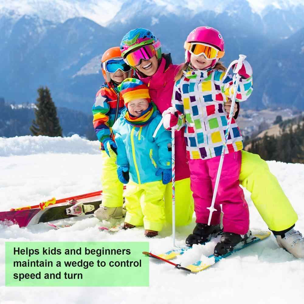 Horuhue Ski Tip Connector 2 Pieces Professional Ski Training Aid Wedge Trainer Ski Connector Training Aid Snow Ski Tools for Beginners Skiing Training