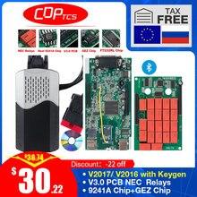 CDP TCS V3.0 board OBD2 car truck tcs cdp tcs pro NEC relay Bluetooth obd ii scanner 2016.00 keygen auto diagnostic tool