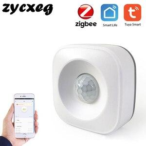 Image 1 - Tuya IFTTT Batterie Powered Smart ZigBee PIR Motion Sensor Detektor Home Alarm System arbeitet mit Mini ZigBee Hub