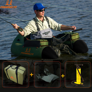 Image 2 - 1 person fishing boat double airbag safety easy to carry rubber boat professional Luya inflatable fishing boat by FISHINGCAT