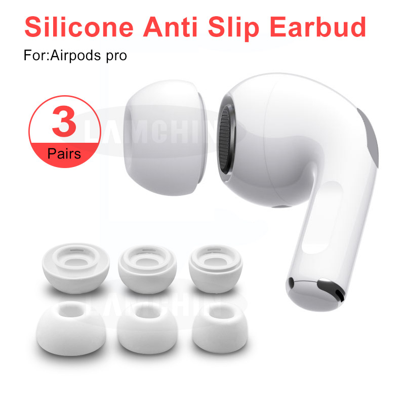 Anti Slip Headphones Replacement Earbuds Soft Silicone Cover Case Earphone Tips Earplugs for AirPods Pro//AirPods 3 M//L 2 Pairs Ear Tips Compatible with AirPods Pro Eartips
