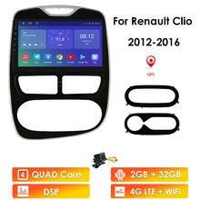 Авторадио 2din Android 10 автомобильный мультимедийный плеер для Renault CLIO 2012-2016 автомобильное радио GPS-навигация WiFi Bluetooth 4G LTE RDS BT