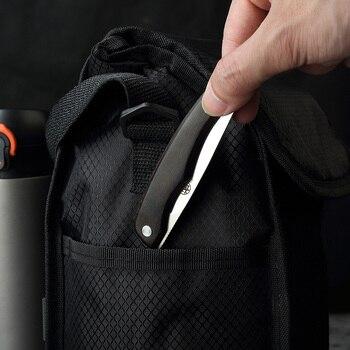 MITSUMOTO SAKARI  Japanese handcrafted folding knives Ebony handle pocket carry knives Multi-functional Utility Knife