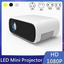 Yg280 led mini projetor 1920x1080 pixels suporta 1080 p hdmi-compatível com áudio usb projetor portátil casa media player de vídeo