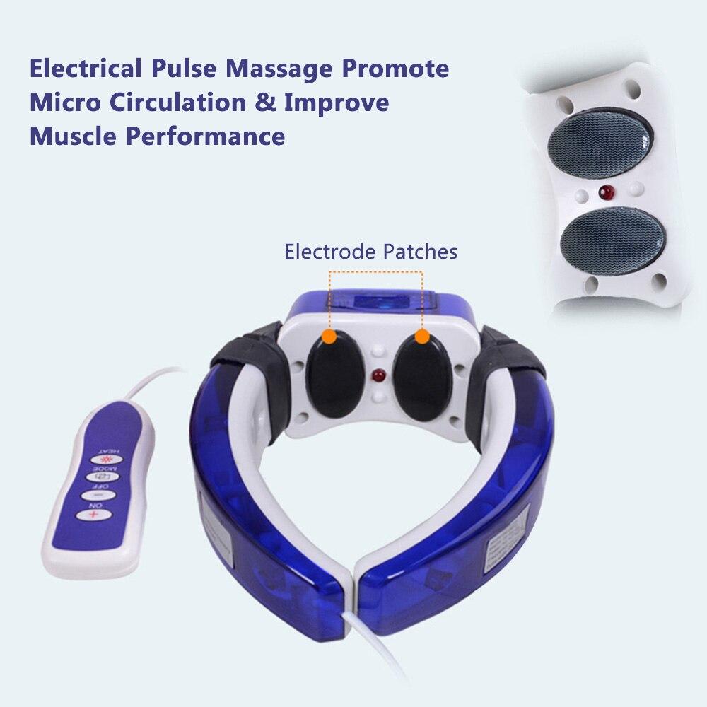 Mais novo pulso elétrico pescoço massageador cervical