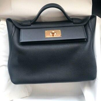 Genuine Leather Single Shoulder Ladies Hand Bags Woman Luxury Handbags Women Bags Designer Solid Color Handbag Bolsos Mujer CC