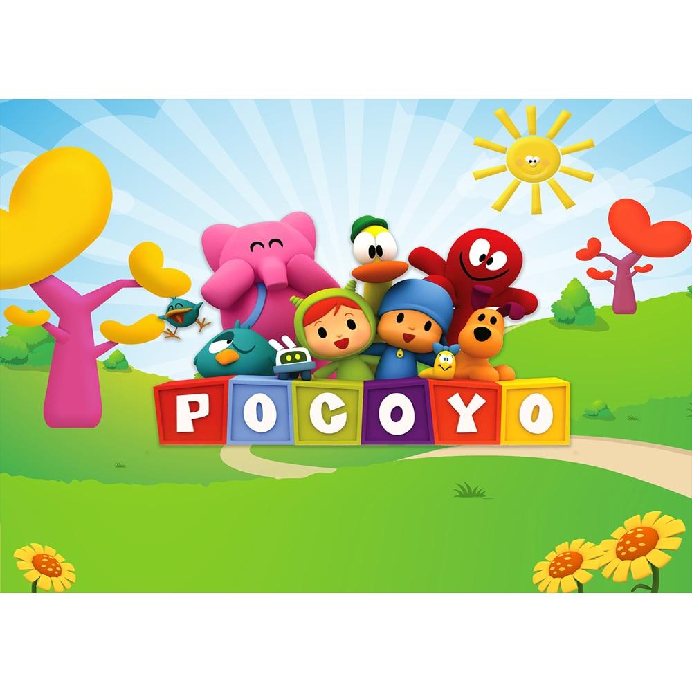 Photography Backdrops Cartoon Characters Pocoyo Birthday Party Baby Backgrounds