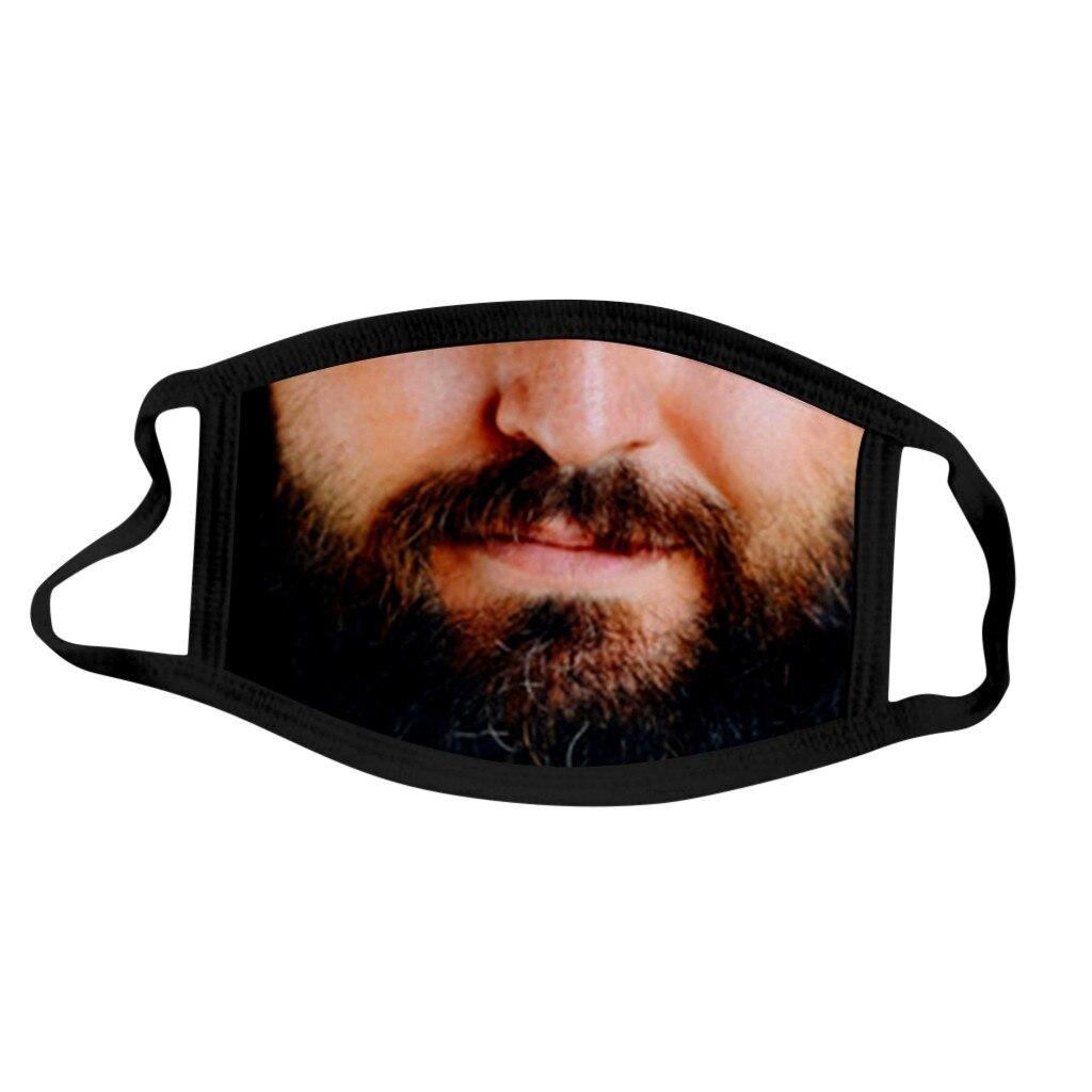 Модная многоразовая смешная маска для лица Pm2.5 с принтом усов и бороды, маска для лица, бороды, усов, волос, маска на лице с
