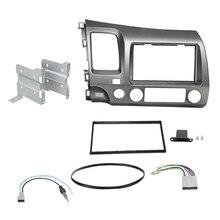 Car Radio Fascia Trim Kit, 2 Din Dash Panel DVD Frame Install Kit for Honda Civic 2006 2007 2008 2009 2010 2011