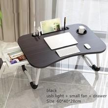 Casa escritorio plegable para Laptop para la cama y sofá portátil mesa tipo bandeja para cama de escritorio para regazo portátil para el estudio y la lectura cama bandeja superior de