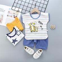 цена на New Baby Boys Clothes Sets Infant Cartoon T-Shirt+Pants 2 Pcs Set Toddler Girl Clothes Casual Sport Suits Kids Clothing 18M-7Y