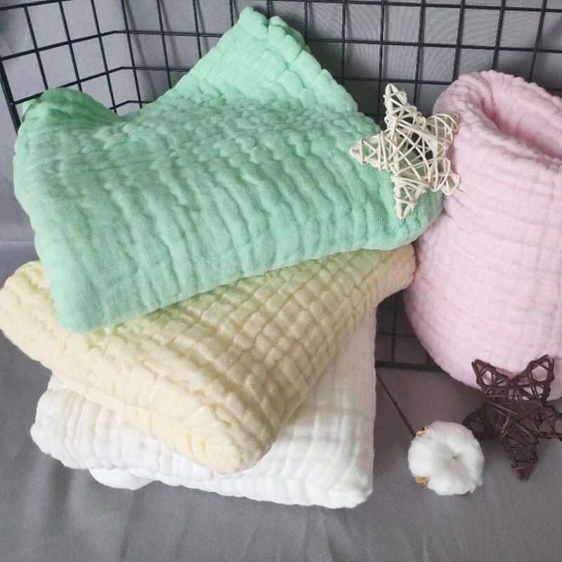 Cotton Gauze Blanket Baby Muslin Swaddle Blankets 6 Layer Baby Bathing Blanket 105x150cm