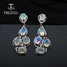 최고 품질의 오팔 걸쇠 귀걸이 천연 보석 파인 쥬얼리 여성을위한 925 스털링 실버 주얼리 결혼 선물 tbj 프로모션