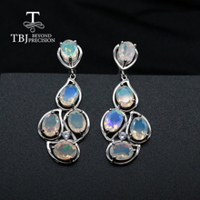 Top quality opal clasp earrings natural gemstone fine jewelry 925 sterling silver jewelry for women wedding gift tbj promotion