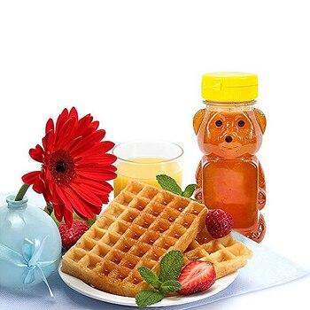 12 botellas de plástico de 240ml con forma de oso para salsa de miel y mostaza