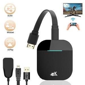 Image 1 - Nowy klucz sprzętowy WiFi do wyświetlacza 4K bezprzewodowa przejściówka do wyświetlacza HDMI 5G bezprzewodowy wyświetlacz WiFi odbiornik do projektor telewizyjny Monitor urządzenia HDMI