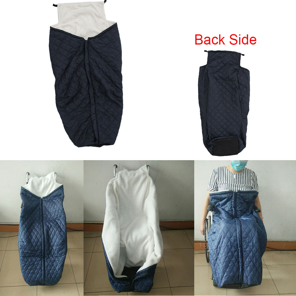 Couverture portative de couverture de réchauffeur de fauteuil roulant de tirette pour la Protection coupe-vent de pieds de jambes du bas du corps,