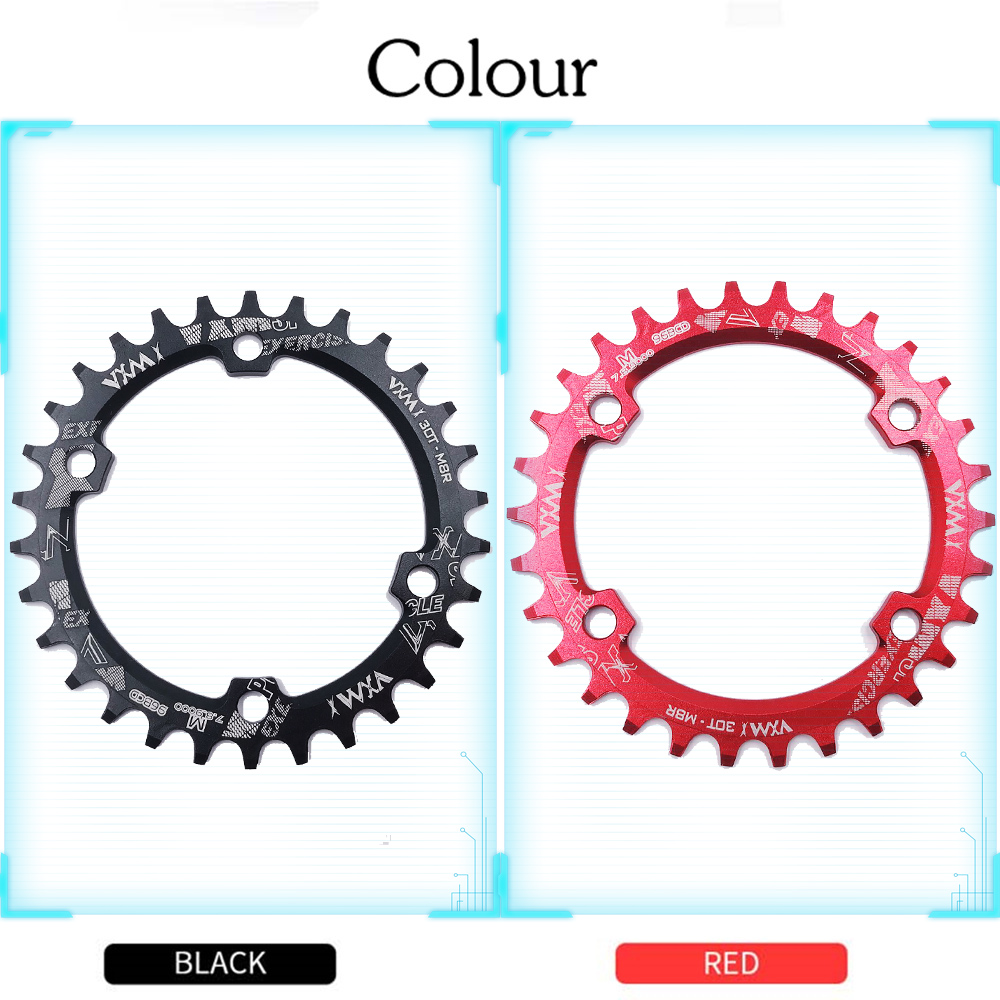 Купить с кэшбэком VXM 30T 32T 34T 36T 38T 96BCD Aluminum Alloy Oval Round Chainring Chainwheel Road Bicycle ChainRing for M7000 M8000 M9000