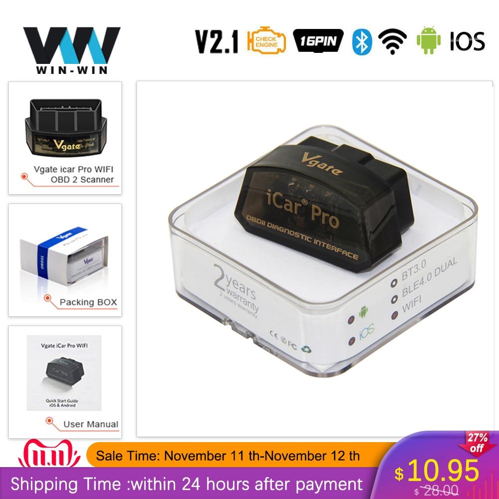 Vgate iCar Pro ELM 327 V2 1 OBD2 Bluetooth 4 0 WIFI Scanner OBD 2 OBD2 Innrech Market.com