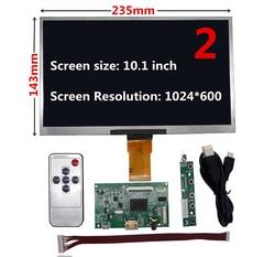 Display lcd de tela 7/8/9/10.1 controlador ttl hdmi placa driver controle áudio para lattepanda raspberry pi banana pi