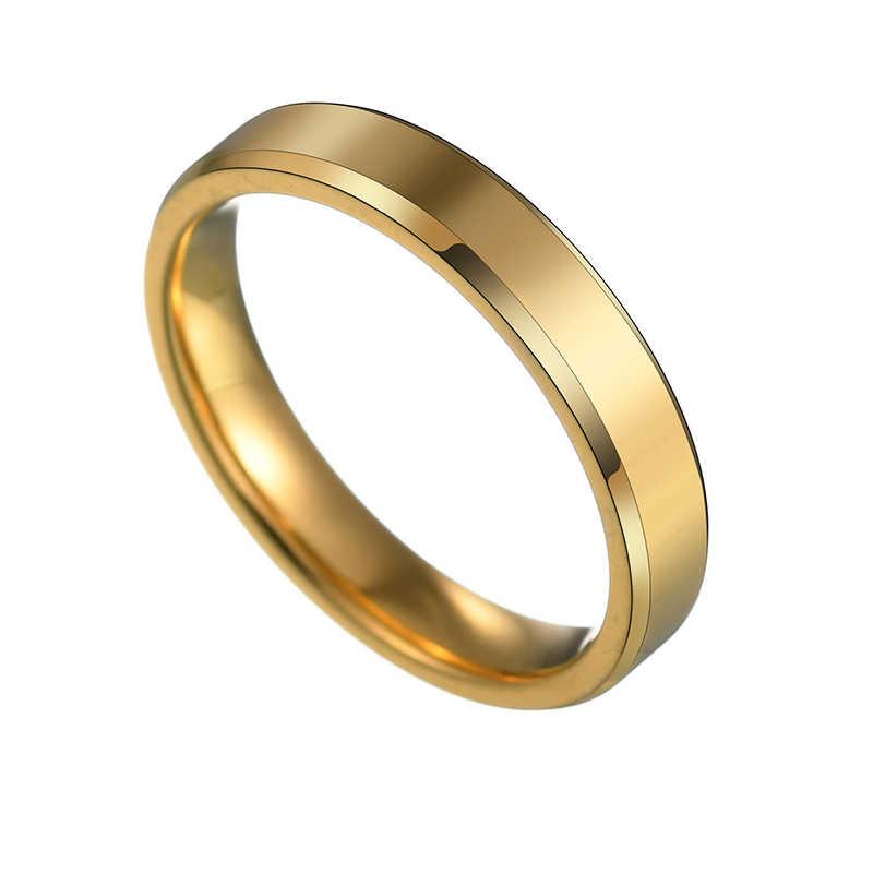 6mm ze stali tytanu czarny palec pierścienie zestaw dla Man Silver Plated pierścień dla kobiet kochanka biżuteria kobieta Wedding Ring drop Shipping