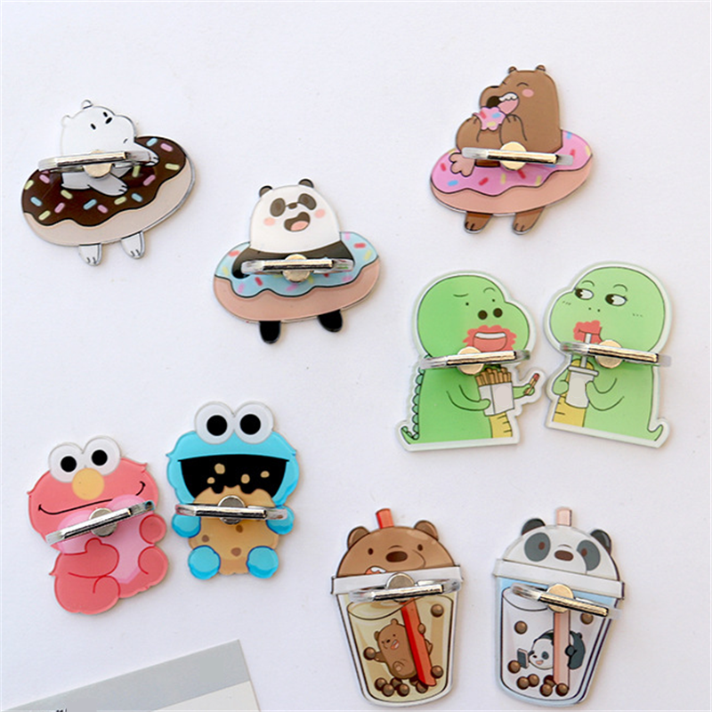 UVR 360 Degree Cartoon Bear Animal Finger Ring Smartphone Stand Holder Mobile Phone Holder Stand For IPhone Huawei All Phone
