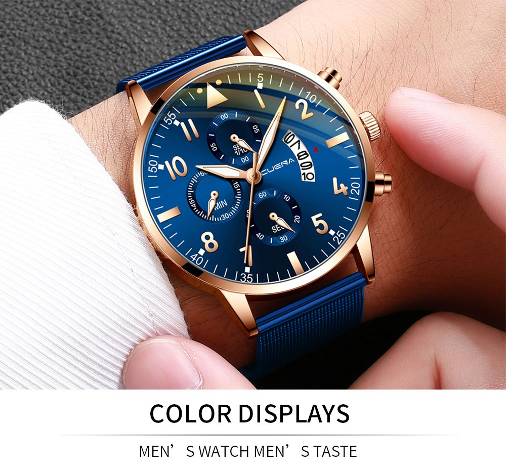Man Watch Top Brand Reginald Watch Men Sports Date Quartz Analog Wrist Sapphire Glass Date Stainless Steel Male Watch Gifts