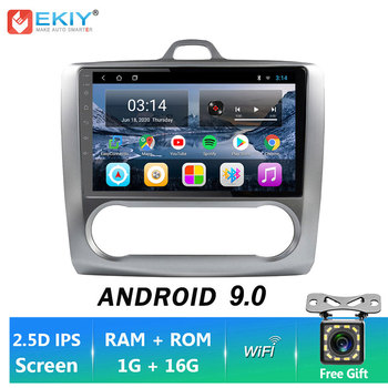 EKIY 9'' Android 9.0 Car Stereo Video For Focus 2004-2011 Multimedia GPS Navigation Autoradio Head Unit Tape Recorder Camera BT image
