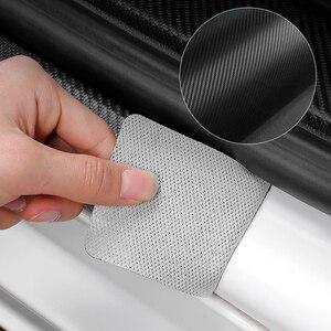 4 шт. углеродного волокна порога протектор кожаные виниловые наклейки для Защитные чехлы для сидений, сшитые специально для CHERY TIGGO 34 7 PRO 8 Анти-Царапины наклейка на дверной фурнитуры