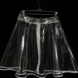 Falda de plástico transparente de cristal con Forma de palabra grande de PVC falda de plástico de altavoz falda femenina Harajuku de talla grande mujeres Moda 2020