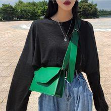 Sacs à main en cuir pu pour femmes, pochette, célèbre sac à bandoulière simple et large, Chic, mode britannique, 2020