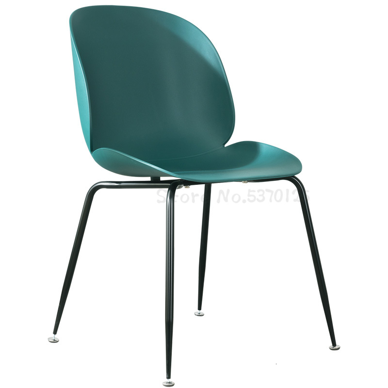 Nordic Beetle Chair Postmodern Simple Light Luxury Gold Plated Stool Backrest Restaurant Home Shell Dining Chair