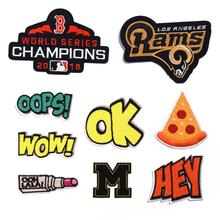 Letters OK WOW HEY OOPS Embroidered Patches Sewing Ironing Applique on Badge Clothes Patch Stickers Apparel Crafts