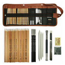 29 sztuk/zestaw zestaw do rysowania ołówki do szkicowania pełny zestaw do szkicowania z grafitowymi ołówkami papierowy pędzelek do zdobień Mark ołówek węglowy Extender
