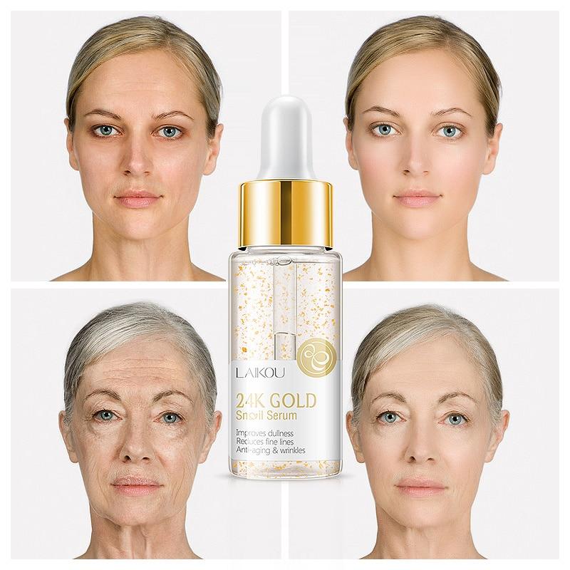 Anti Wrinkle Anti Aging Collagen 24k Gold Essence Skin Whitening Cream Moisturizing Face Care Hyaluronic Acid Liquid NEW TSLM1