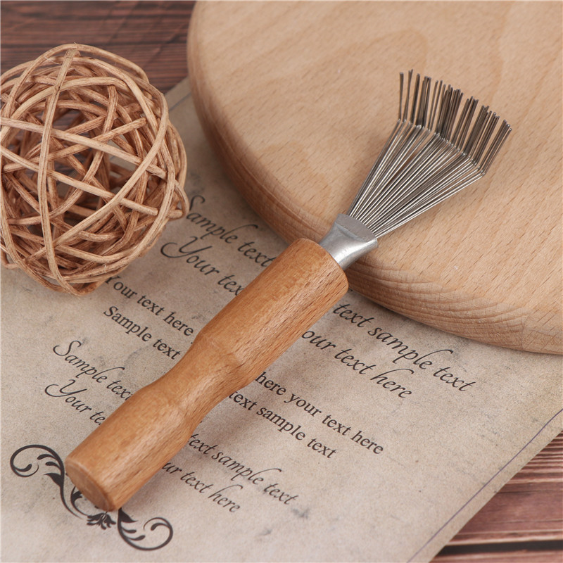 1PCS Comb Cleaner Hair Brush Comb Cleaner Tool Wooden Delicate Cleaning Removable Handle Embeded Tool 5 styles