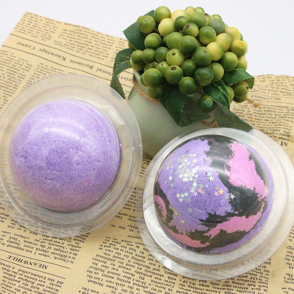 100g Bath Bomb Star Sky Lavender Scented,Spa Shower Fizzy Large Size Handmade Organic Spa Bomb Ideal Gift For Women Bath Salt