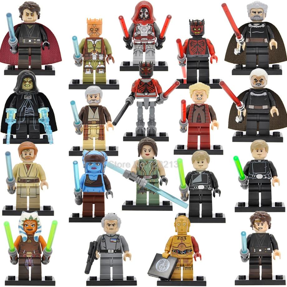 Single Sale Starwars Moff Figure Darth Vader Maul Sidious Luke Aayla Secura Obi Wan Palpatine Darth Sidious Building Blocks Toys