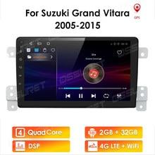 Autoradio Android 10, 2 go/32 go, système multimédia, audio stéréo, écran de navigation, pour voiture SUZUKI GRAND VITARA (2005 – 2015)
