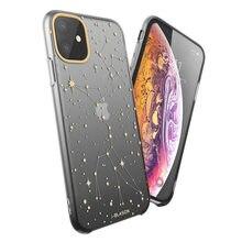 Чехол для iPhone 11, 6,1 дюйма (выпуск 2019), i Blason OMG Series, черный/звездный тонкий жидкий мягкий резиновый защитный силиконовый чехол