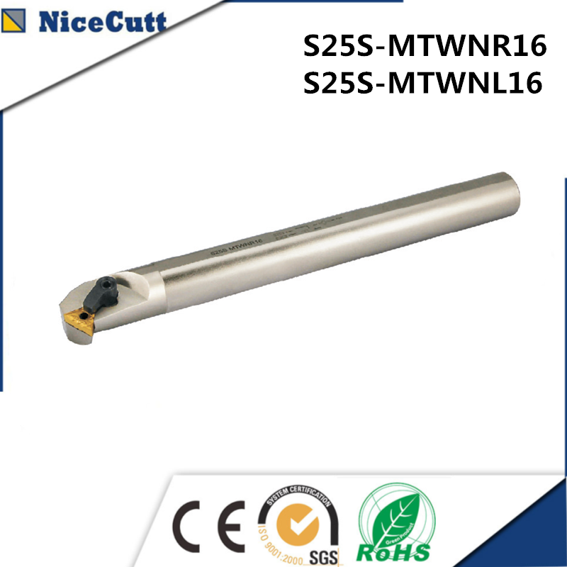 S25S-MTWNR16 S25S-MTWNL16 Internal Turning Tool Holder For TNMG Insert Lathe Tool Holder Freeshipping NiceCutt