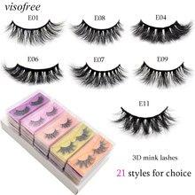 visofree 3D mink lashes wholesale faux cils eyelashes Dramatic Natural Long Lashes make up lashes bulk false eyelashes beauty