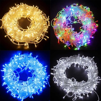 10M 30M 50M Holiday Led Christmas Lights Outdoor LED Fairy   String Lights Waterproof Garland Light Decoration Party Wedding usb battery led snowflake garland lights fairy string waterproof outdoor lamp christmas holiday wedding party lights decoration
