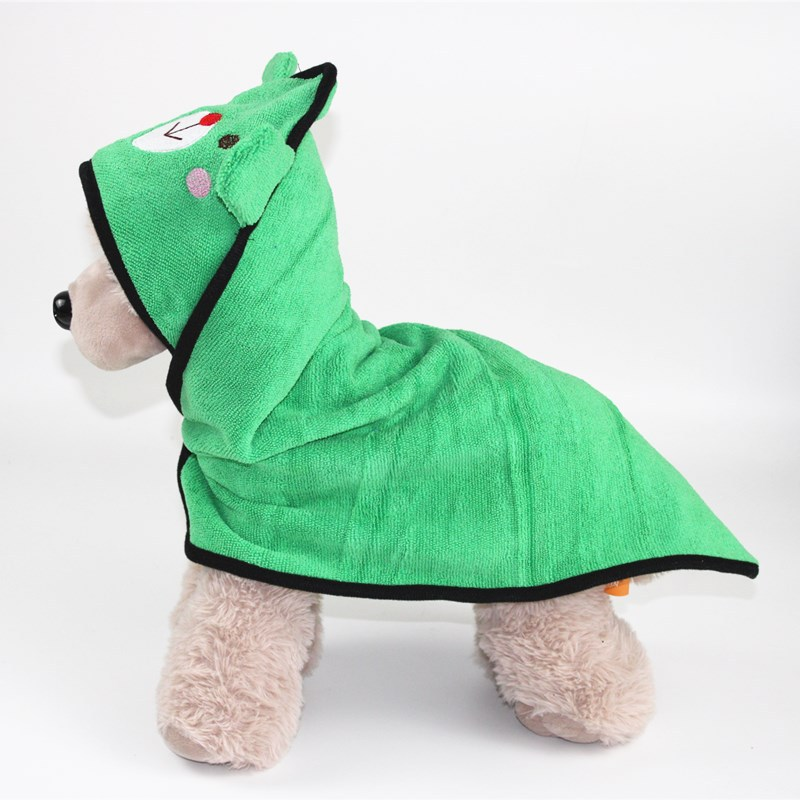Cute Pet Dog Cat Towel Pets Drying Bath Towels with Hoodies Warm Blanket Soft Drying Cartoon Puppy Super Absorbent Bathrobes 13